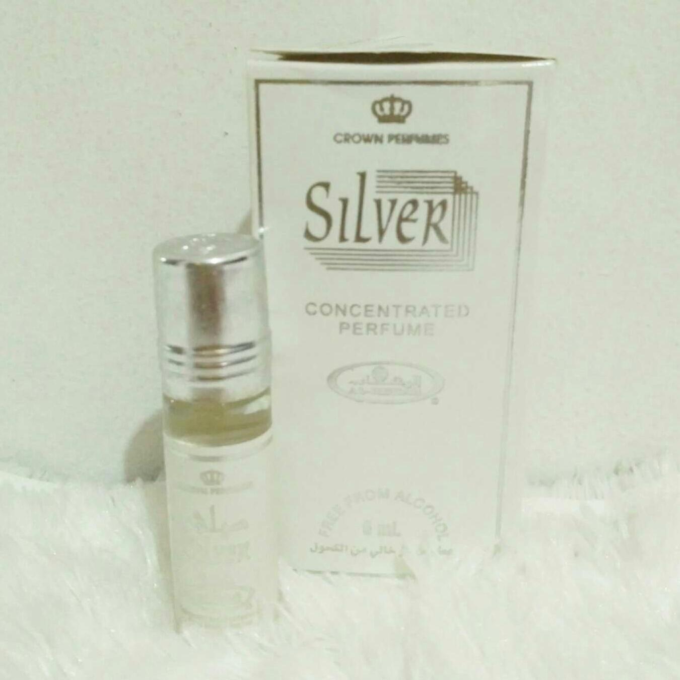 Detail Gambar Parfum Alrehab silver free from alcohol 6ml Terbaru