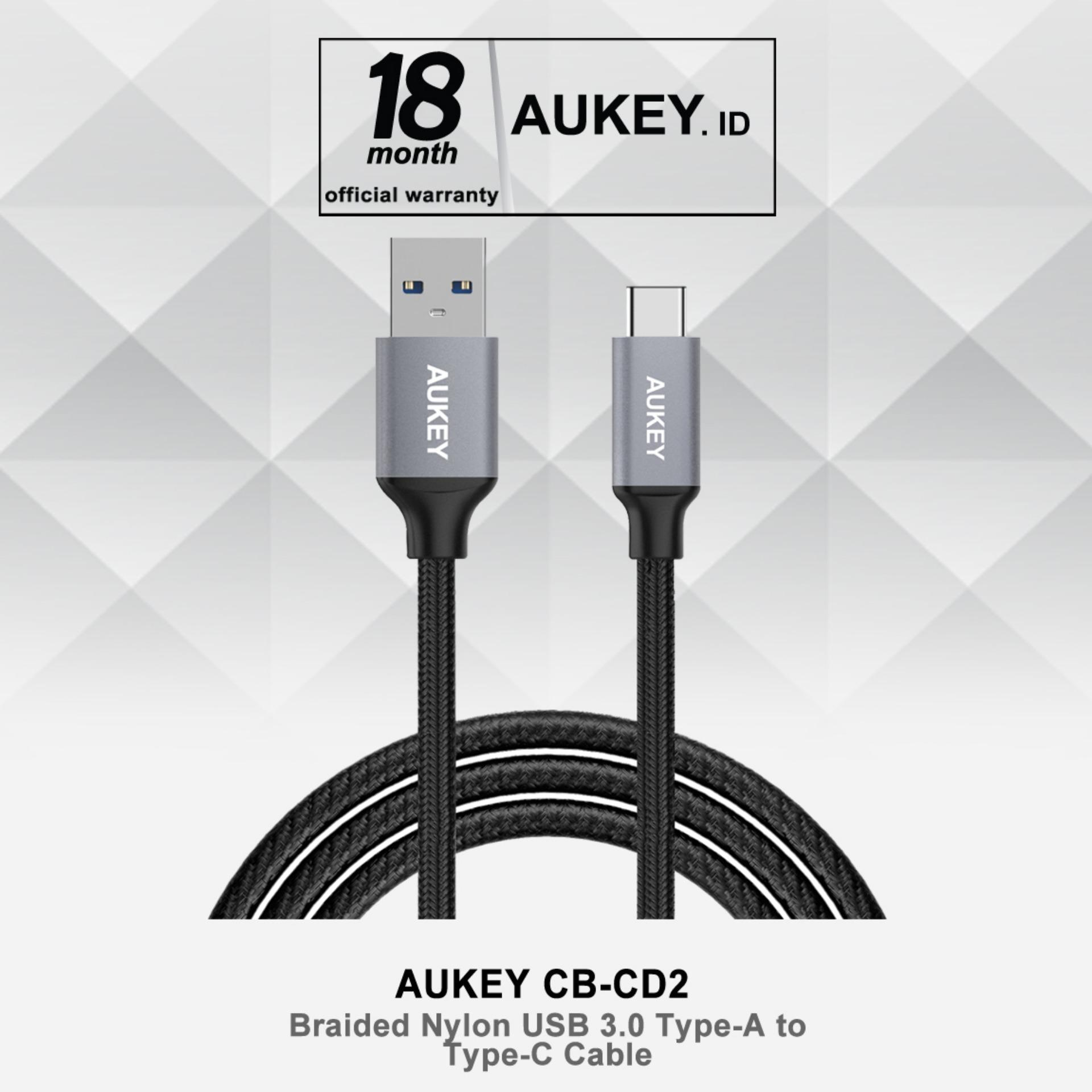 Beli Aukey Cb Cd2 Usb 3 To Usb C Sync And Charging Cable Hitam Aukey Online