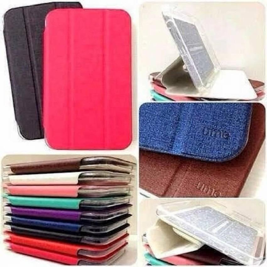 Aimi Leather Case Sarung Untuk Samsung Galaxy Tab 3 T116/T110 sarung tablet - Hitam