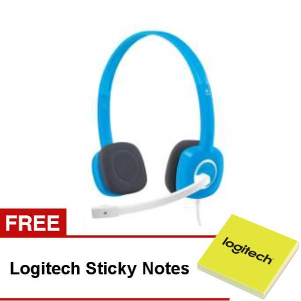 Logitech H150 Stereo Headset (Sky Blue) - FREE Sticky Notes