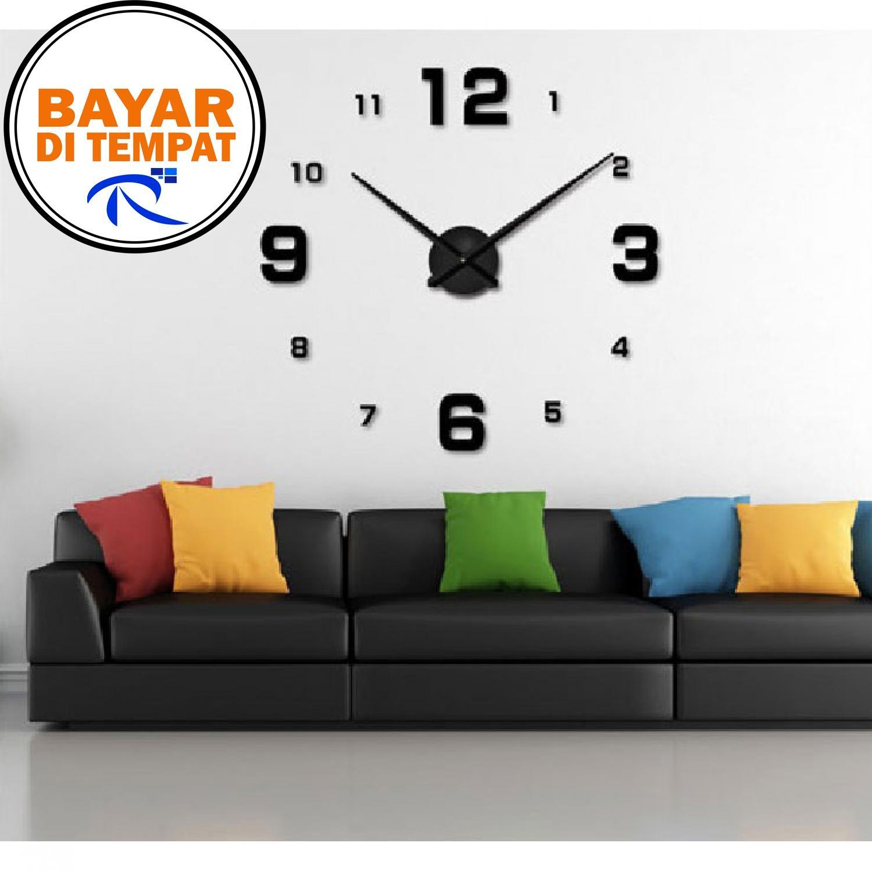 Kelebihan Jam Dinding Exclusive Unik Dan Lucu Diy Wall Artistik Owl Clock Rimas Giant 80 130cm Diameter Elet00660 Hitam