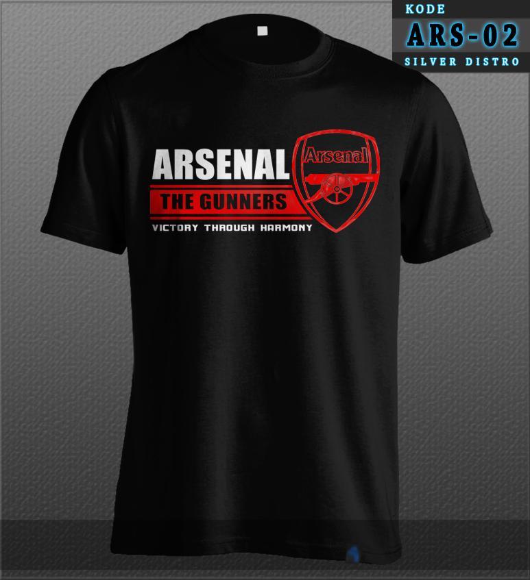 Kaos Arsenal The Gunners Victory Through Harmony Bahan Baju Distro Bukan Jersey ARS-02