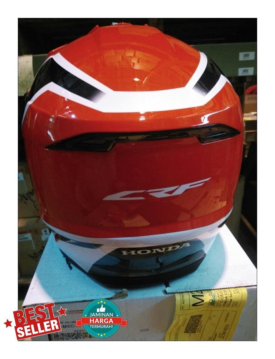 Fitur Helm Honda Crf Model Trail Spesial Edition Dan Harga Terbaru 150l 150 L Ori Bar Pad Bantalan Stang 3