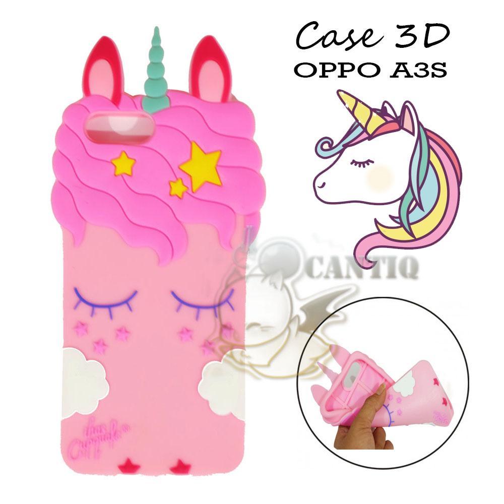 QCF Silikon Oppo A3S 2018 Unicorn Case 3D Oppo A3S 2018 Soft Back Case    Case a91bd81821