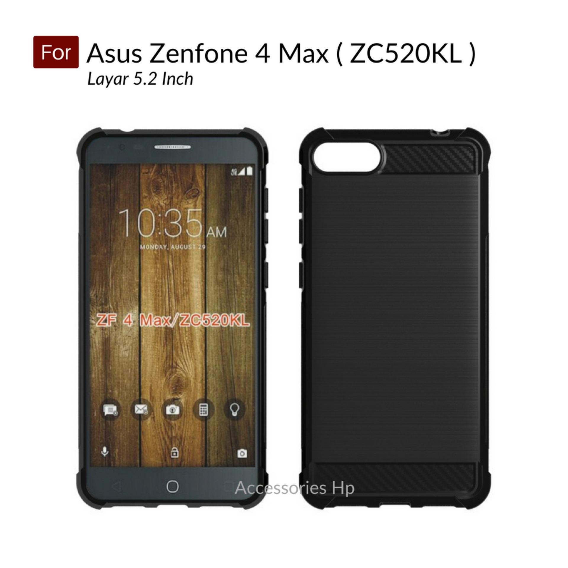 Accessories Hp Brushed Carbon Crack Case Asus Zenfone 4 Max 5.2 inch ( ZC520KL ) -