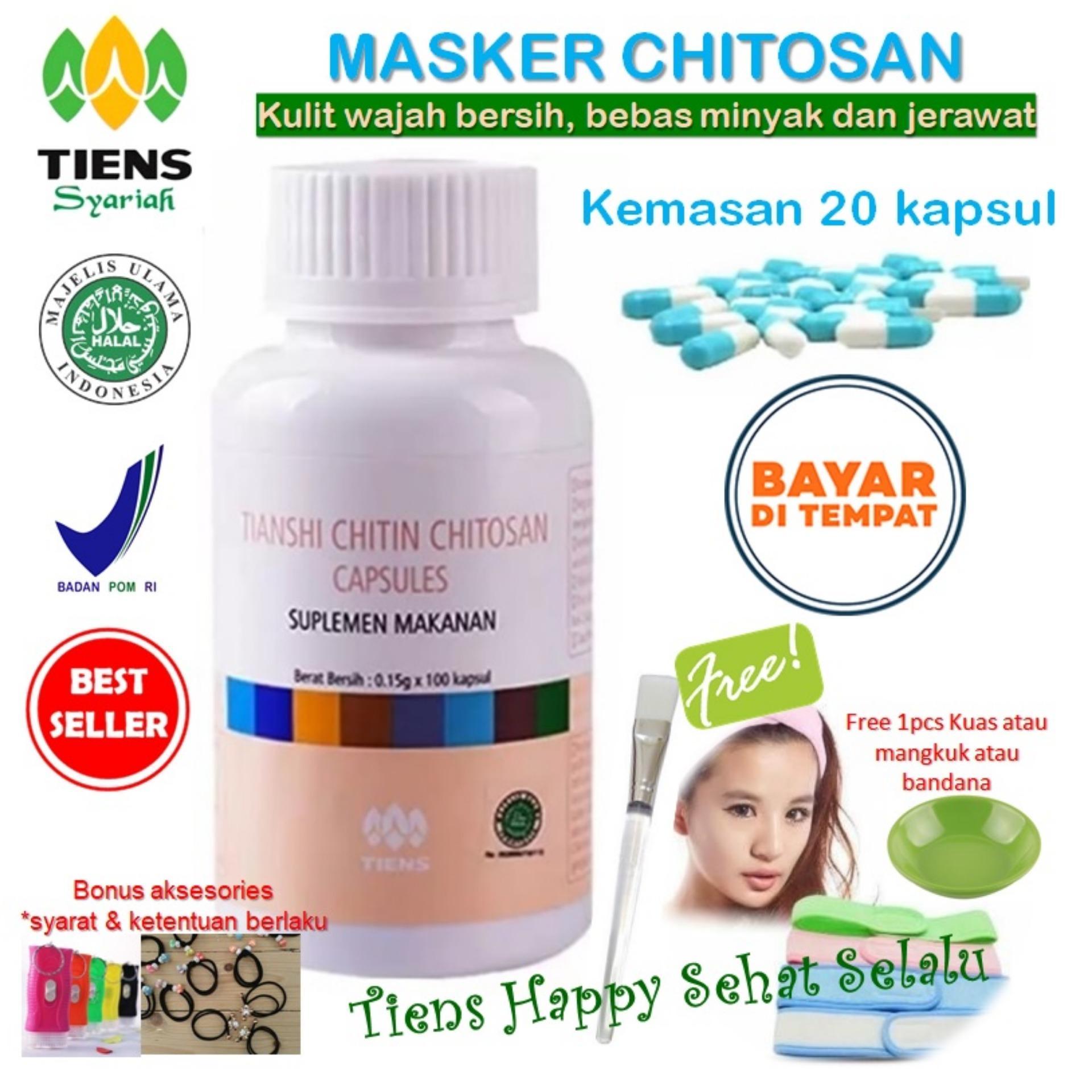 Beli Tiens Masker Chitosan Herbal Anti Jerawat Paket 20 Kapsul Gratis Kuas By Tiens Happy Sehat Selalu Cicilan