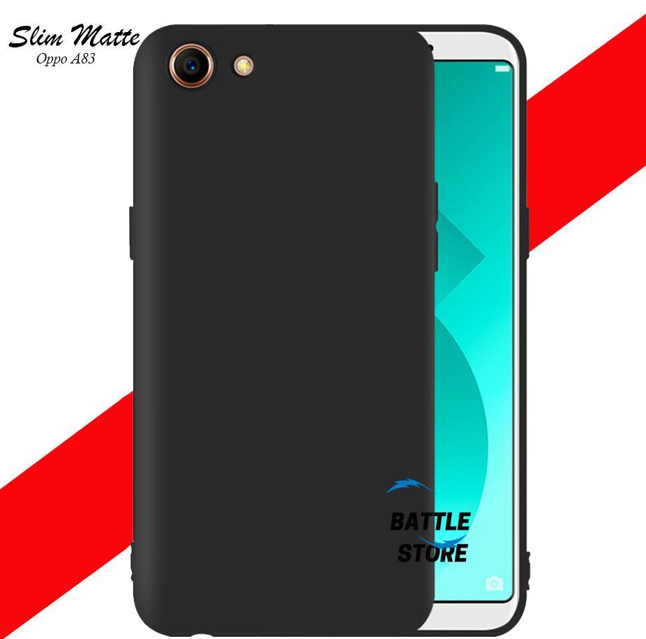 Case Slim Black Matte Oppo A83 / Oppo A1 Baby Skin Softcase Ultra Thin Jelly Silikon