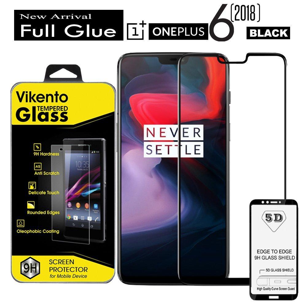 Anti Gores Kaca 5D Full Coverage Screen Protector 9H Full Lem Tempered Glass Vikento For Oneplus