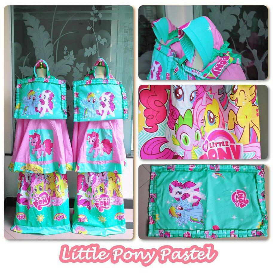 Beli Madeena Mukena Anak Karakter Little Pony Pastel Lengkap