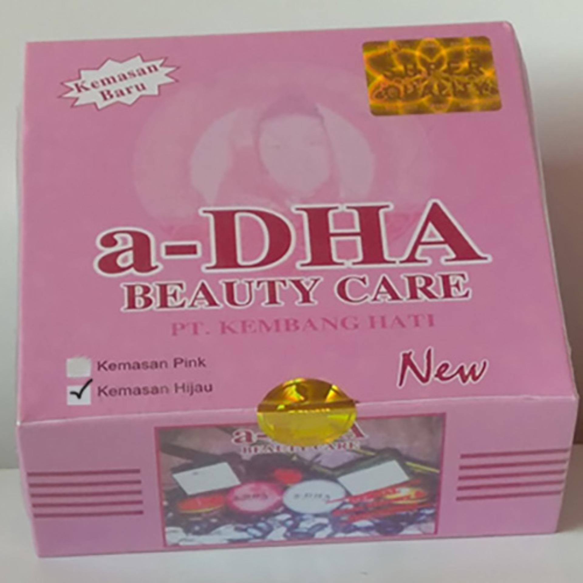 a DHA Paket Cream Pemutih Wajah Kemasan Baru Hijau Untuk 40 Tahun Keatas