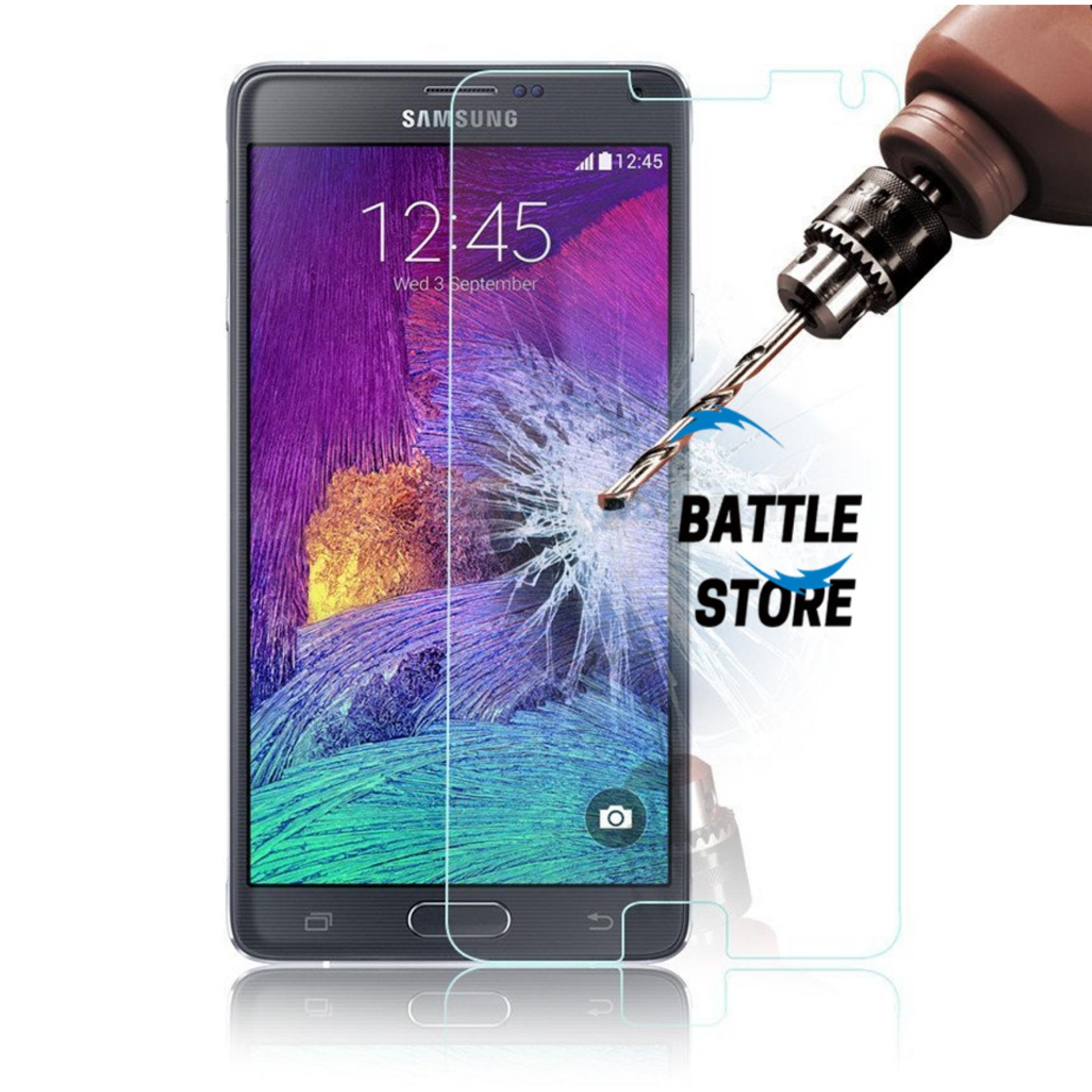 Samsung Galaxy Note 4 Screen Protector Tempered Glass / Anti Gores Kaca - White Clear