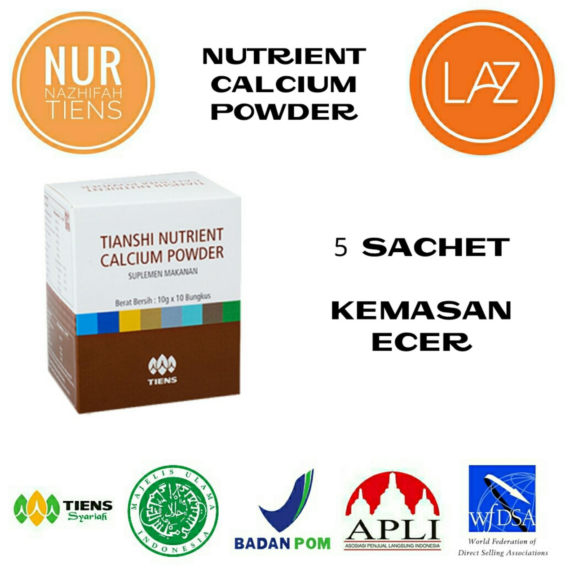 Tiens Nutrient Calcium Powder Kalsium Untuk Tulang Patah Retak Osteoporosis Dan Peninggi Badan Pomo Paket 5 Saset Diskon Jawa Timur