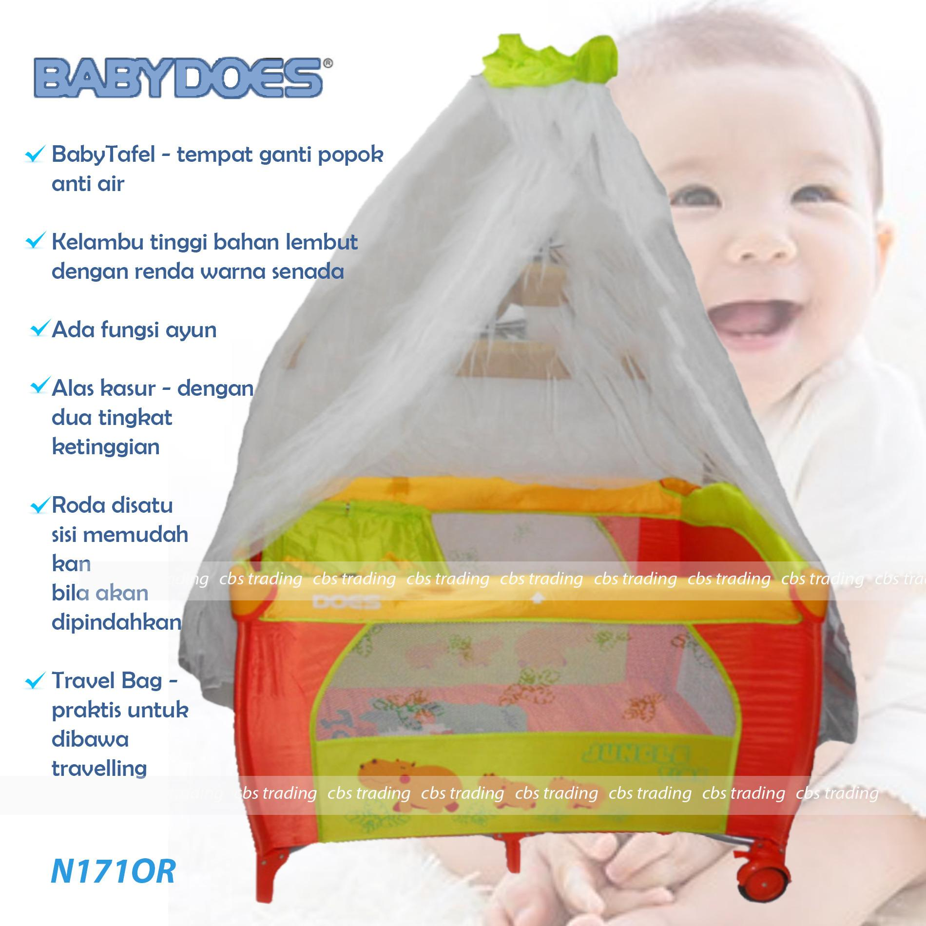 Babydoes Baby Box N171 Box Bayi Does 171 Ranjang Bayi Orange Original
