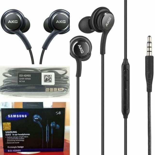 Headset Earphone Samsung S8 AKG Handset Handsfree Samsung #FJ067 Murah Terbaik