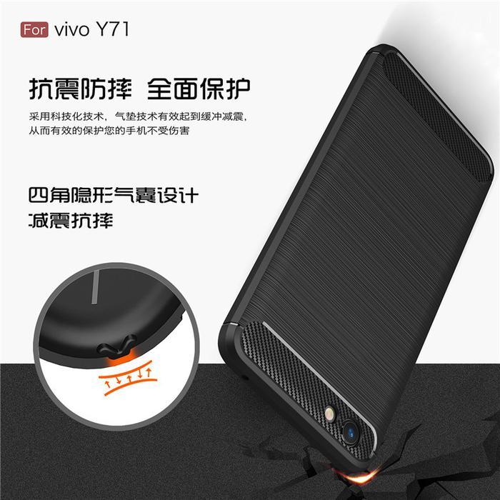 ... iPaky Carbon Fiber Case Vivo Y71 Softcase Back Casing Cover Vivo Y71 - 5