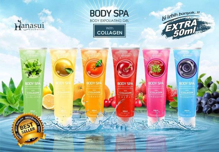 Original Body Shop Spa Hanasui 100% ASLI BPOM - New Bodyshop Spa Peeling Gel - Body Spa Gel - Body Spa Hanasui