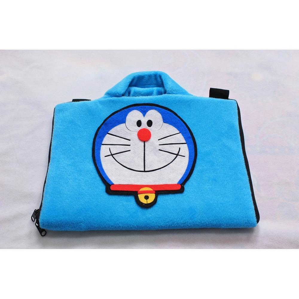 Pusat Jual Beli Doraemon Biru 13 14 Inch Bulu Tipis Velboa Softase Tas Laptop Netbook Macbook Boneka Doraemon Lucu Jawa Barat