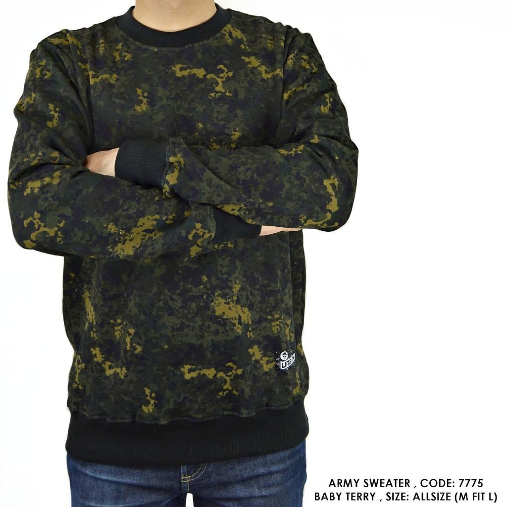 SWEATER SWITER CORAK ARMY TENTARA COWOK PRIA ()