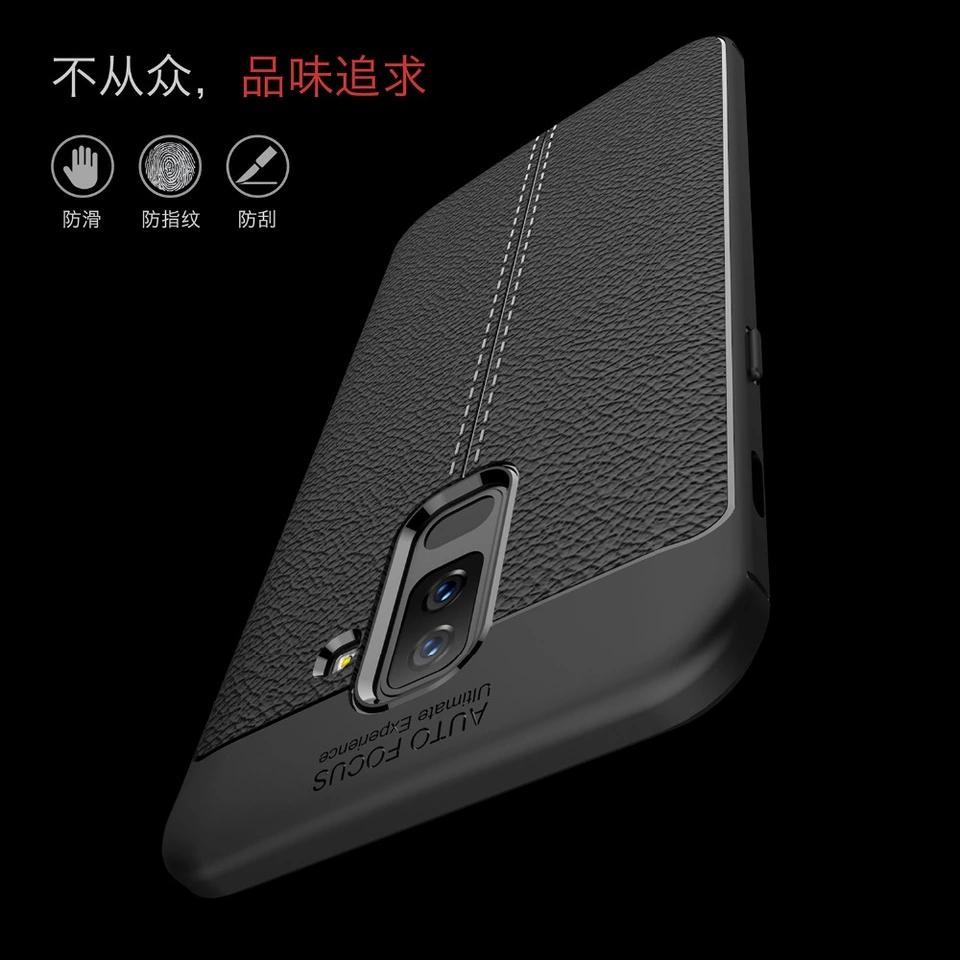 Fitur Case Samsung A6 Plus Softcase Auto Focus Leather Case A6 Plus