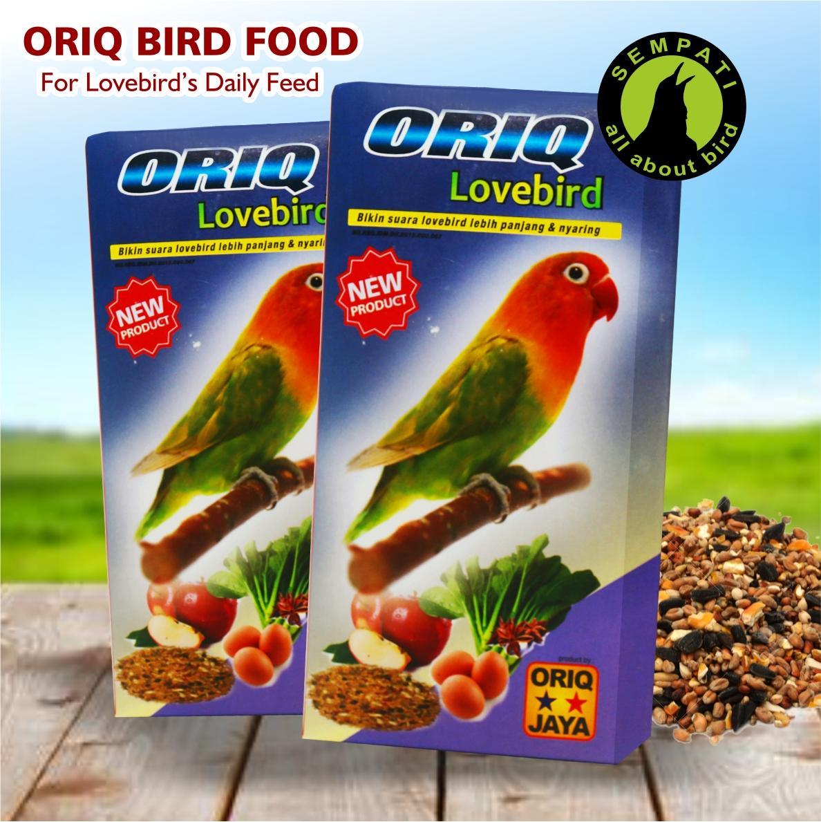 Pakan Burung Lovebird Harian Kemasan Kotak Oriq Jaya