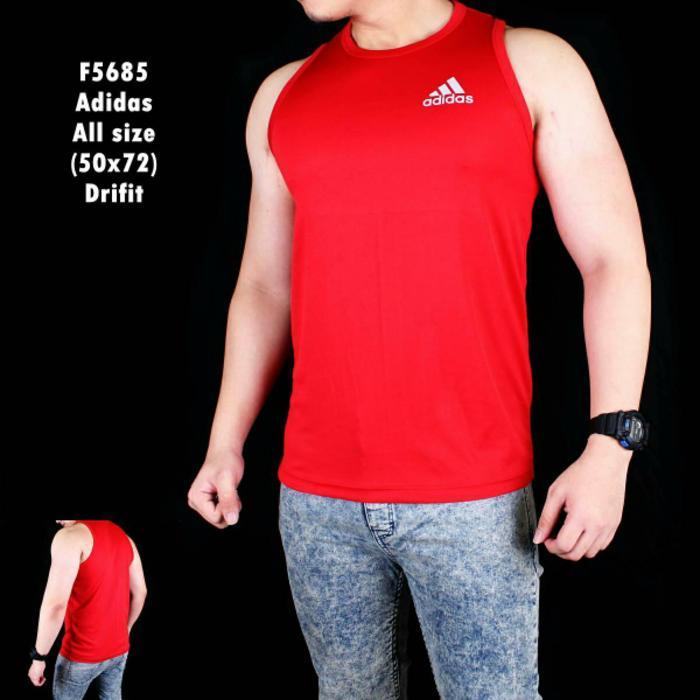 Promo Kaos Gym Kaos badminton singlet fitnes olahraga pria adidas -
