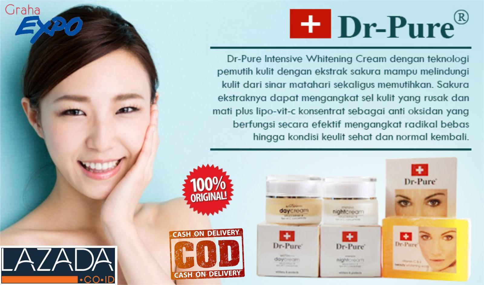 Dr Pure Set Cream Siang Malam dan Sabun Pemutih Whitening Day and Night Krim - 2