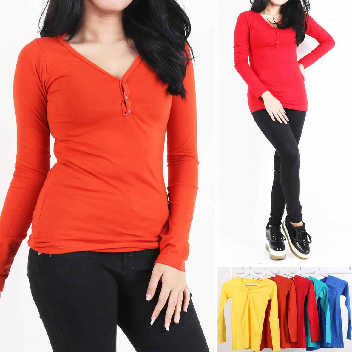 Oma Holley Fashion Ciprianne T-Shirt Long Sleeve 5 Warna-Size M