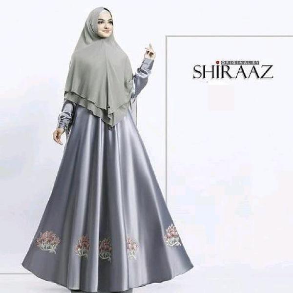 Gamis Syari Wanita Velvet Bordir Baju Dress Khimar