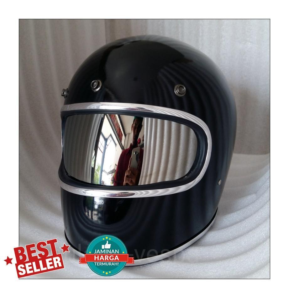 Fitur Helm Custom Classic Cakil Xbone Inner Visor Retro Vintage Hbc Steve Legend Hitam Doff Kaca Bogo Bell Star Mika Krum Jepit Ink Kyt Agv Pelangi
