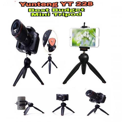 Tripod YunTeng YT-228 Mini Tripod Mount + Phone Holder Clip Desktop Self- Tripod