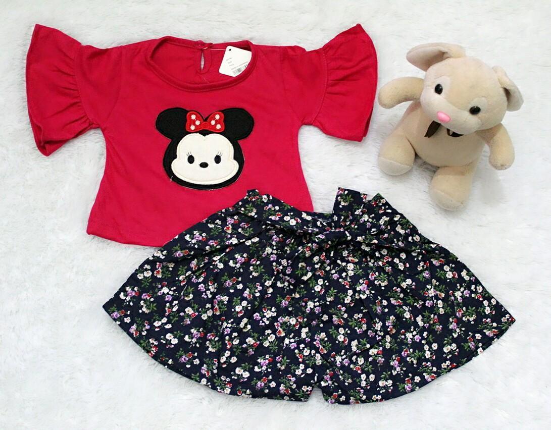 All Size 3-12 Bulan / Setelan Baju Celana Bayi Anak - Tsum Lengan Terompet ...