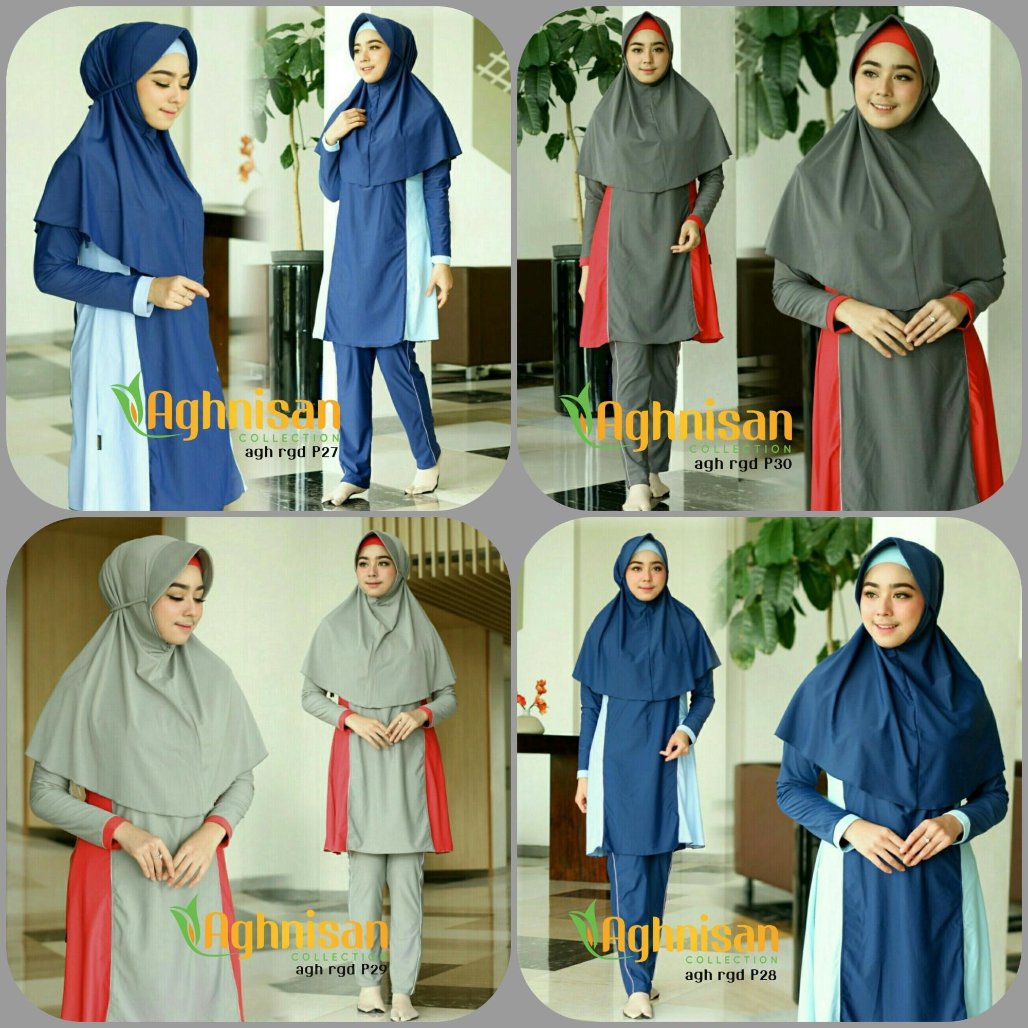 Baju Renang Muslimah Premium by Aghnisan Collection Size S - XL