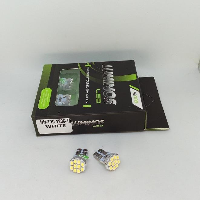 lampu senja motor mobil T10 warna putih 10 mata led