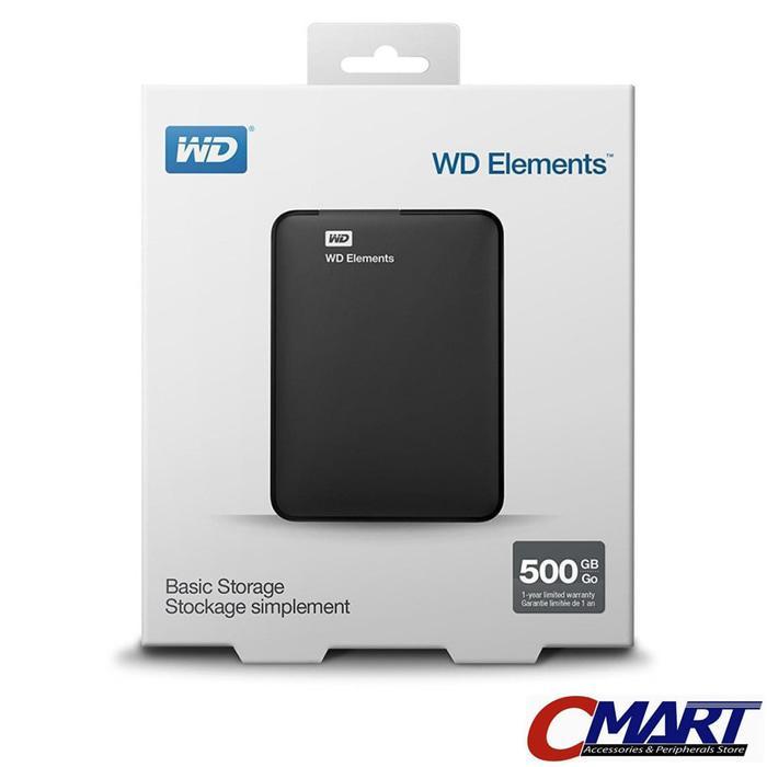 ORIGINAL - WD Elements 500GB HD HDD Hardisk Harddisk External Eksternal Element