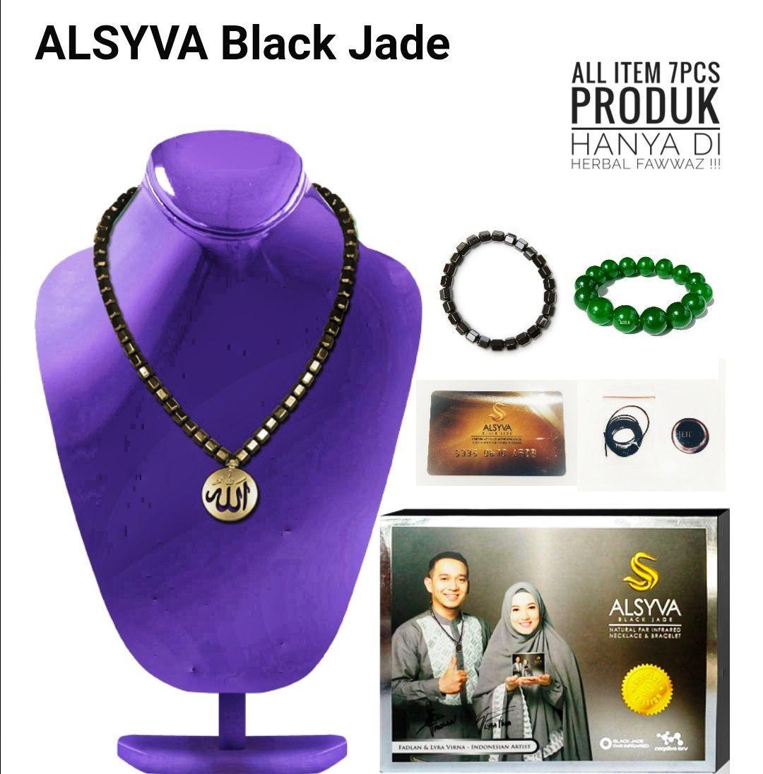 ALSYVA BLACK JADE - KALUNG DAN GELANG KESEHATAN