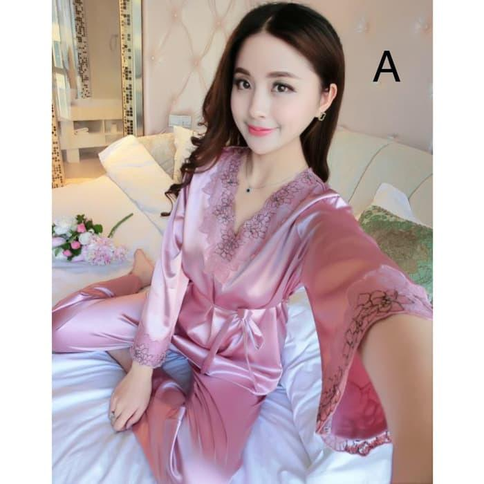 Piyama Set Panjang Baju Tidur Wanita Bajutidur Sleepwear Muslimah 8104