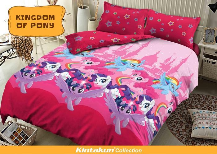 PROMO MURAH - Sprei Kintakun Dluxe 180 x 200 Kingdom Of Pony King size