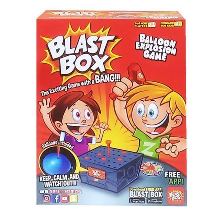 Mainan Keluarga Blast Box Challenge Family Balloon Explosion Game Balon