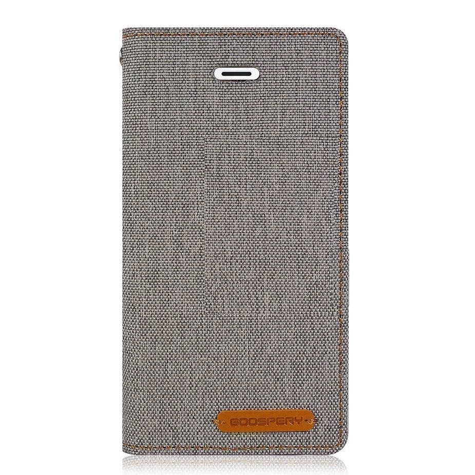 Mercury New Canvas Flip Case for Apple iPhone 8 Plus - Grey