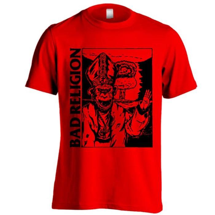 Kaos Band Bad Religion C01 Warna Merah Ukuran S - XXL Baju Distro