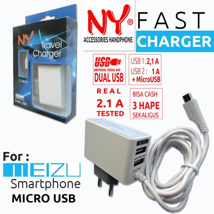 Hemat 10%!! Charger Ny Fast Charger Meizu Micro Usb - ready stock