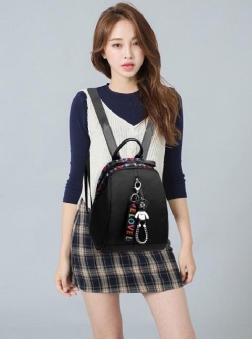 ... Tas Ransel Backpack ABG Remaja Wanita Import Korea New Model CS-LV 01 - 3 ...