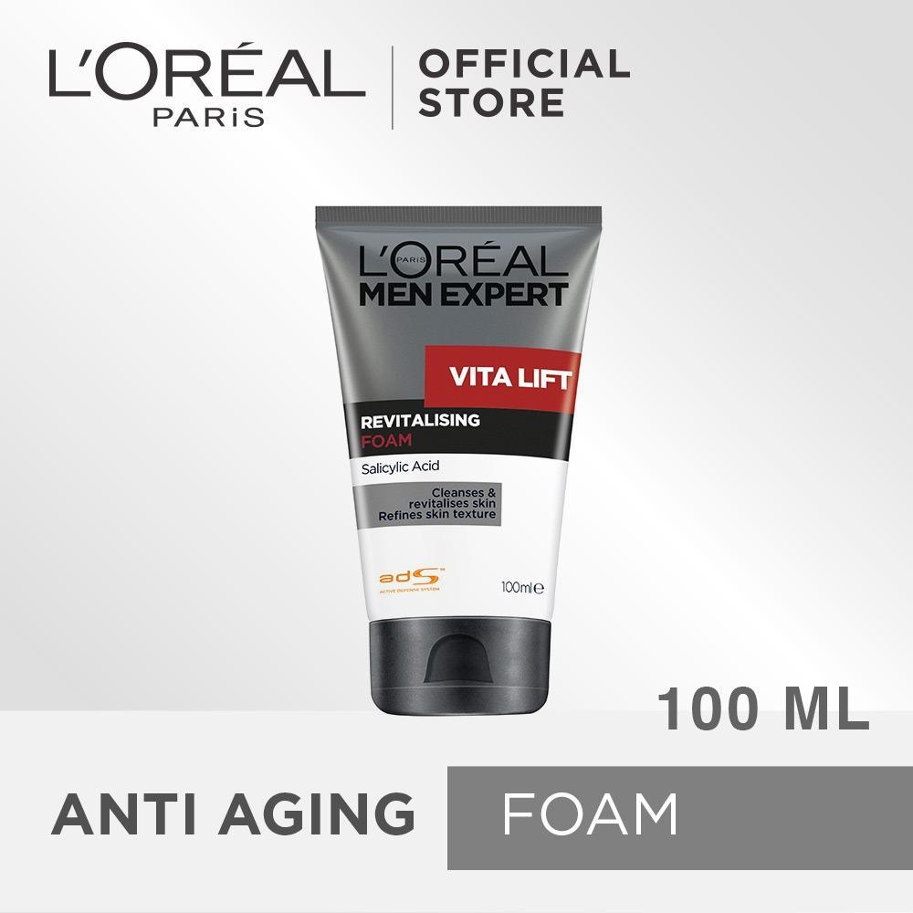 Jual L Oreal Paris Vitalift Revitalising Cleansing Foam Pembersih Wajah Untuk Pria 100 Ml L Oreal Paris Original
