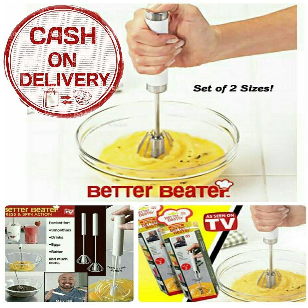 kado unik– mixer better beater set alat pengocok telur / pengocok telur praktis / rotatable hmixer / mixer telur  / mixer pengocok telur portable