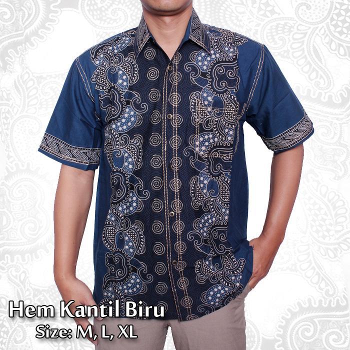 Kemeja Batik Pria Lengan Pendek Katun Halus