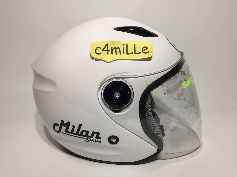 Detail Gambar HELM BMC MILAN SOLID WHITE HALF FACE Terbaru