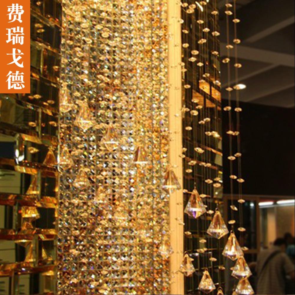 Gaude Tirai Manik-manik Kristal Tirai Dekorasi Manik-manik Segi Delapan Posisi