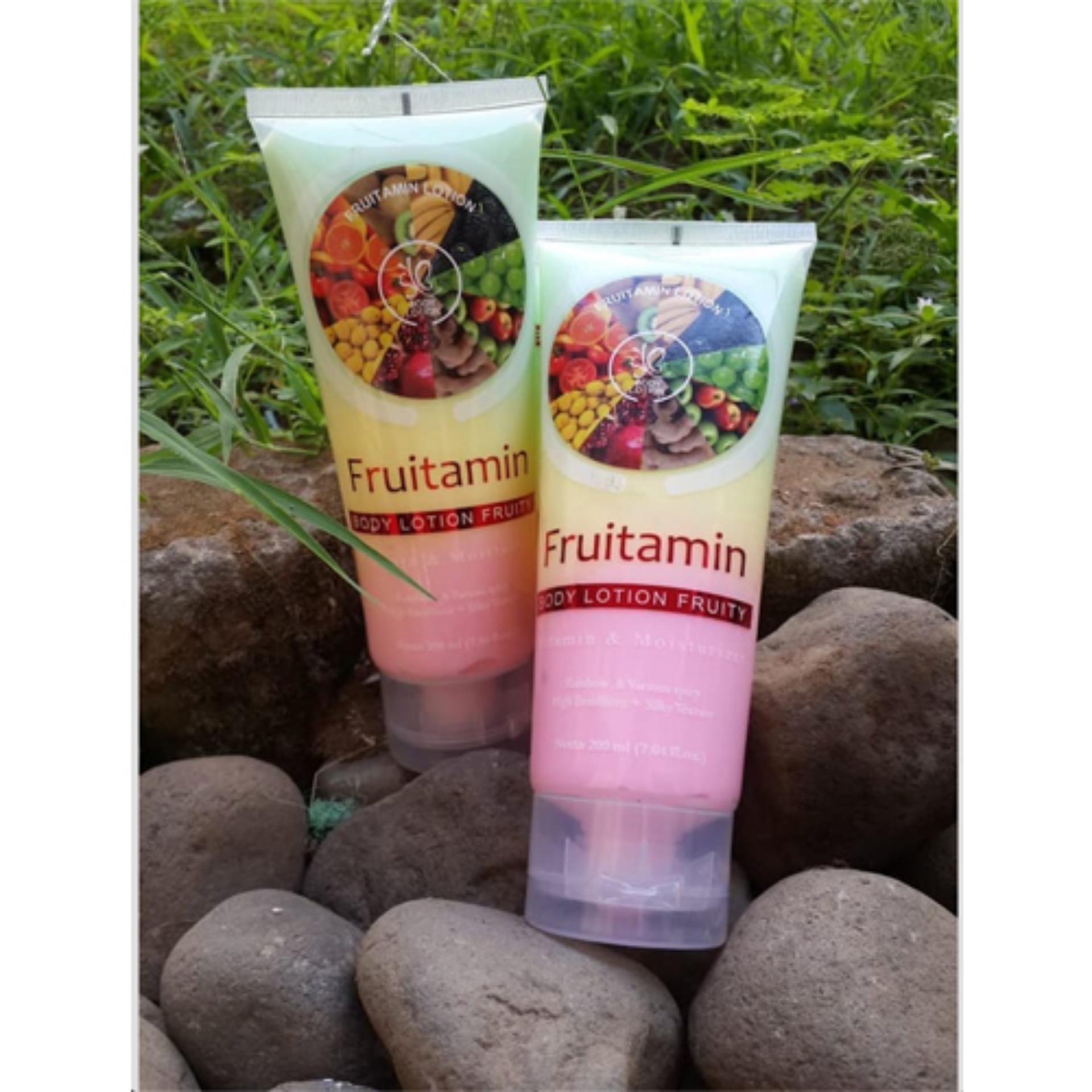 ... HOKI COD - SYB Body LOTION Spa FRUITAMIN Varian Fruit Extract Original Wangi Mencerahkan Kulit BPOM