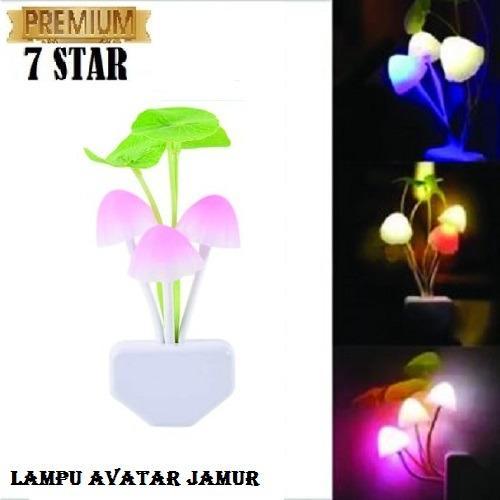 Lampu Tidur Jamur 7STAR Mushroom LED Lampu Hias Kamar / Lampu Tidur Sensor Cahaya LED 1Pcs
