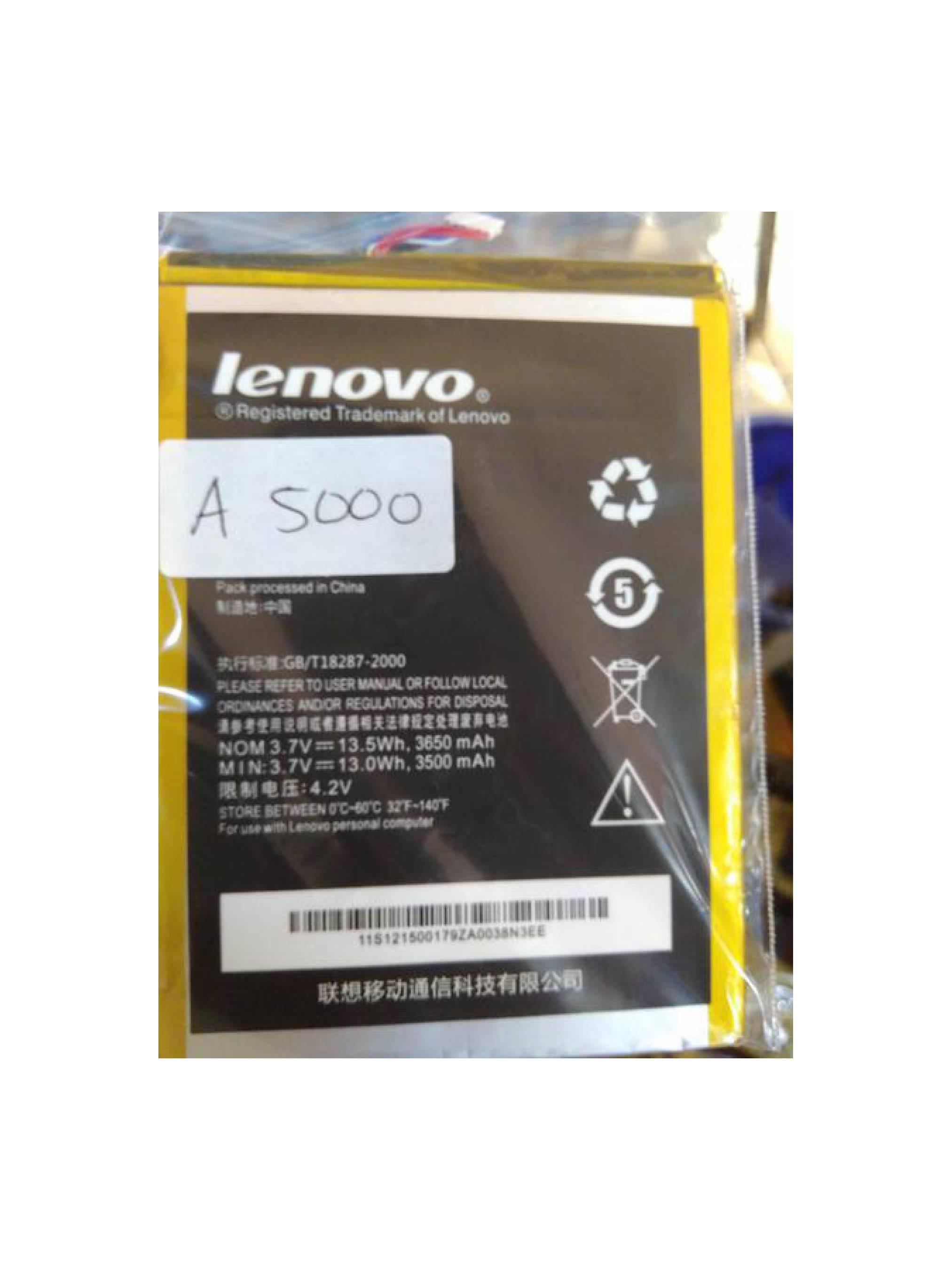 Baterai Lenovo Ideatab Tablet A1000 Atau A3000 Atau A5000 Original
